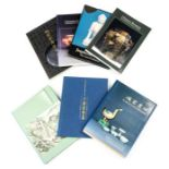 A group of seven reference books on Chinese ceramics and archaic bronzes, includingJingdezhen