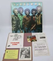 A signed Jackson five vinyl album Won in a Radio one competition by the current vendor details