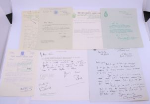 A collection of various letters and signatures Lord Mountbatten interest