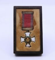 A scarce Distinguished Service order medal in period case