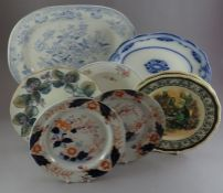 A collection of mostly nineteenth British ceramics, to include: a blue and white Asiatic Pheasants