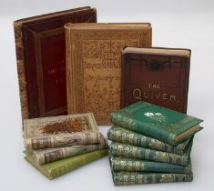 The Art Annual 1889 - gilt tooled red hide bound folio, together with The Magazine of Art, published