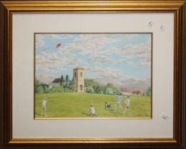 Leonard Goff (20th centruy) ' The Red Kite'. Pastel Signed and dated '07 lower right, titled and