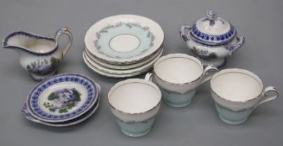 A mid 19th century dolls/nursery part dinner service, together with a small quantity of Aynsley bone