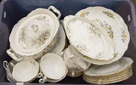 Royal Albert Haworth large dinner service, including platters and tureens