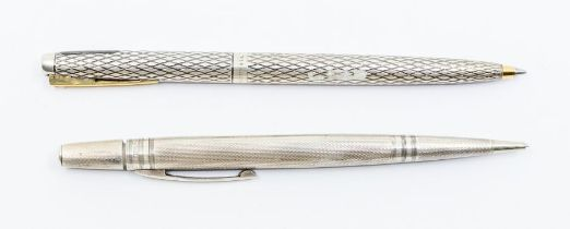 An American Shaeffer USA sterling silver mounted ball point pen and a Life Long silver mounted