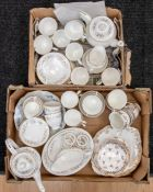 A Crown Staffordshire part tea set, nine cups, saucers, side plates, milk and sugar, another tea set