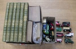A collection of books including sixBritish Isles volumes, (Depicted by pen and camera) along