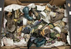 A collection of assorted bird figures, from the Country Bird Collection, plus a Capodimonte, etc,