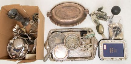 A silver mounted pocket watch stand; two silver napkins; a silver hafted button hook; together