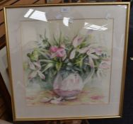 A collection of four 20th Century watercolours to include: Rex Nicholls, Seascape, signed lower