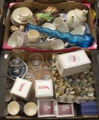 A large collection of egg cups; Wade Whimsies; Wade figures - Huntsman Fox, Tufty; Nao style