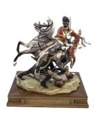 Capodimonte Charge of the Light Brigade figure on stand