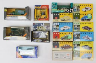 Diecast: A collection of assorted boxed vehicles to include: eleven Vanguards, five various Corgi
