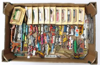 Diecast: A collection of assorted unboxed diecast vehicles to include Matchbox, Majorette, and