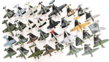 Aircraft: A collection of assorted model aircraft by Atlas, to include: Hawker, Messerschmitt,