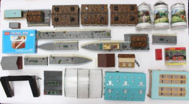 Model Railway: A collection of assorted model railway buildings, accessories and others, some