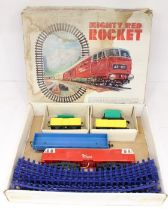 Model Railway: A boxed Mighty Red Rocket set, contents appear complete, however box insert is