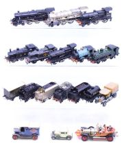 Model Railway: A collection of assorted kit built locomotives and tenders, together with four