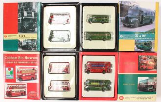 Diecast: A collection of four boxed diecast London Transport Museum sets to comprise: STL Bus Set 9,