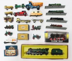 Diecast: A collection of assorted boxed and unboxed diecast to include: Dinky Racing Car, and