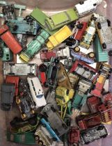 Die cast: large quantity of mixed playworn die cast vehicles. To include Matchbox, Lledo etc. Please