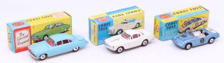 Corgi: A collection of three boxed Corgi Toys to comprise: Jaguar Mark X, 238; The Saint's Car Volvo
