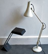 A modern design anglepoise and similar designer desk lamp Provenance Property of Baroness Betty