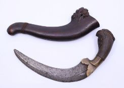 An unusual 19th cent Kriss dagger with exotic horn handle