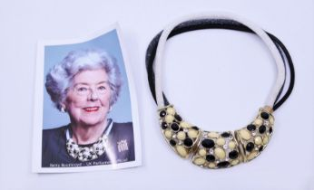 A costume jewellery necklace as worn by Baroness Betty Boothroyd