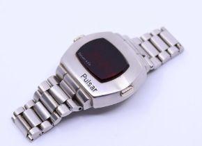 A scarce Pulsar LED Watch with Tiffany retail mark