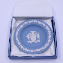 A Wedgwood jasperware plate Provenance Property of Baroness Betty Boothroyd
