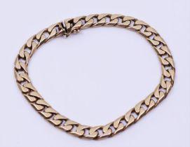 A 9ct gold Curb link bracelet marked 375
