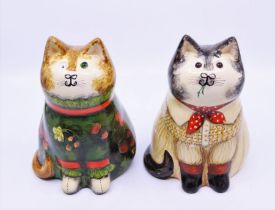 A pair of Joan and David De Bethel Rye Pottery cats Provenance property of Baroness Betty