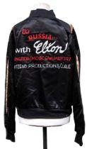 Elton John, a 1979 crew's tour jacket, embroidered to back 'to Russia... with Elton, Leningrad/