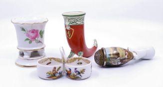 A Meissen porcelain vase and similar (4)