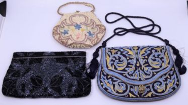 Two evening bags Provenance Property of Baroness Betty Boothroyd