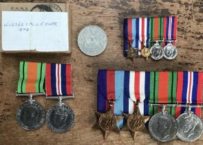 WW2 medal groups of 1939-45 star, France & Germany Star, Defence medal and 1939-45 medal with