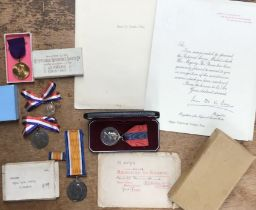WW1 British War Medal to 202649 Pet E.T. Tonge of the E York R, with his 1916 Relegated to