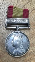 Afghanistan 1878-79-80 medal to 986 Lance Corp J. Smith of the 8th Brig 51st KOLI (Kings Own