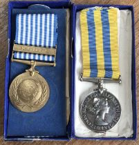 Korea Medal & UN Korea Medal to 22496793 Pte B. Brown of the Royal Leicesters in Original Case of