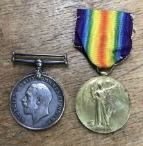 Victory Medal with a very low number to736 Pte W. Elmer of the North' N Yeo(Northamptonshire