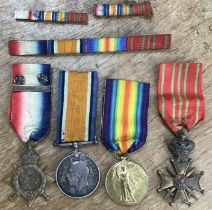 WW1 British 'Old Contemptible' medal group to 61826 BMBR (GNR on star) H. Tilley, Royal Artilleryof
