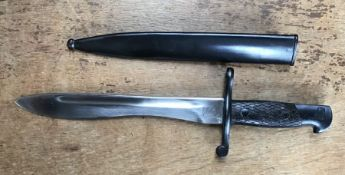Spanish Bolo Machete Bayonet 2302M by FN Toledo Arms Factory with Scabbard.