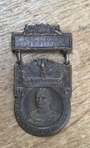 Rare American WW1 1917 General Pershing Army Camp DIX Wrightstown bronze medal. By I.M. Garfinkel.