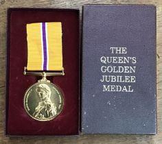 Queens golden jubilee medal in Original Case.