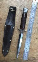 WW2 William Rodgers, Sheffield Stiletto knife & sheath.