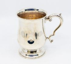 A George VI silver large baluster mug, monogrammed and engraved to underside dated 1931,