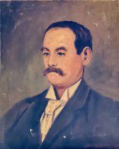 W M Lowdon 1882, portrait of a gentleman, bust len