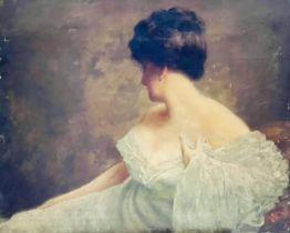 English School, circa 1890 portrait of a lady, hal